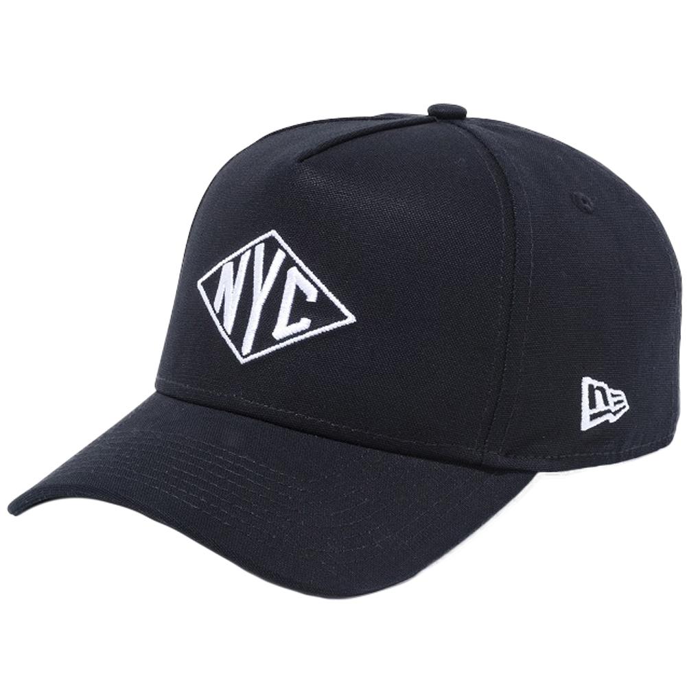 ニューエラ 940 スナップバック エーフレームトラッカー キャップ ニューヨークシティ NYC ダックブラック ホワイト