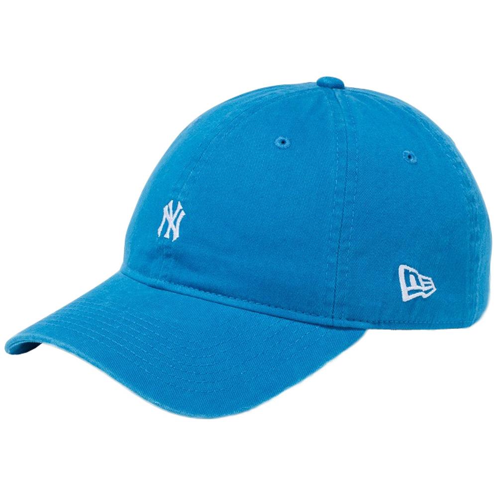 ニューエラ 9THIRTY キャップ クローズストラップ ニューヨークヤンキース スモールロゴ ウォッシュドコットン ブルージュエル スノーホワイト New Era 9THIRTY Cap Cloth Strap New York Yankees Small Logo Washed Cotton Blue Jewel Snow White
