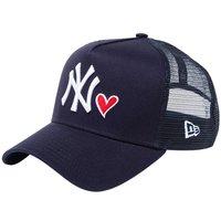 ニューエラ 940キャップ スナップバック エーフレームトラッカー レッドハートロゴ ニューヨークヤンキース