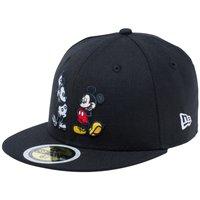 ディズニー×ニューエラ 5950キッズ キャップ マルチロゴ ミッキーマウス ブラック キャラクターカラー スノーホワイト