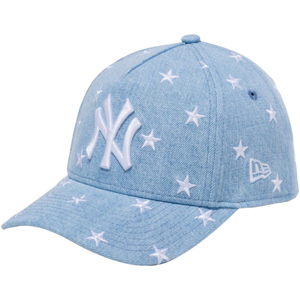 ニューエラ 940 スナップバック キッズ キャップ エーフレームトラッカー スターズ ニューヨークヤンキース ウォッシュドデニム スノーホワイト
