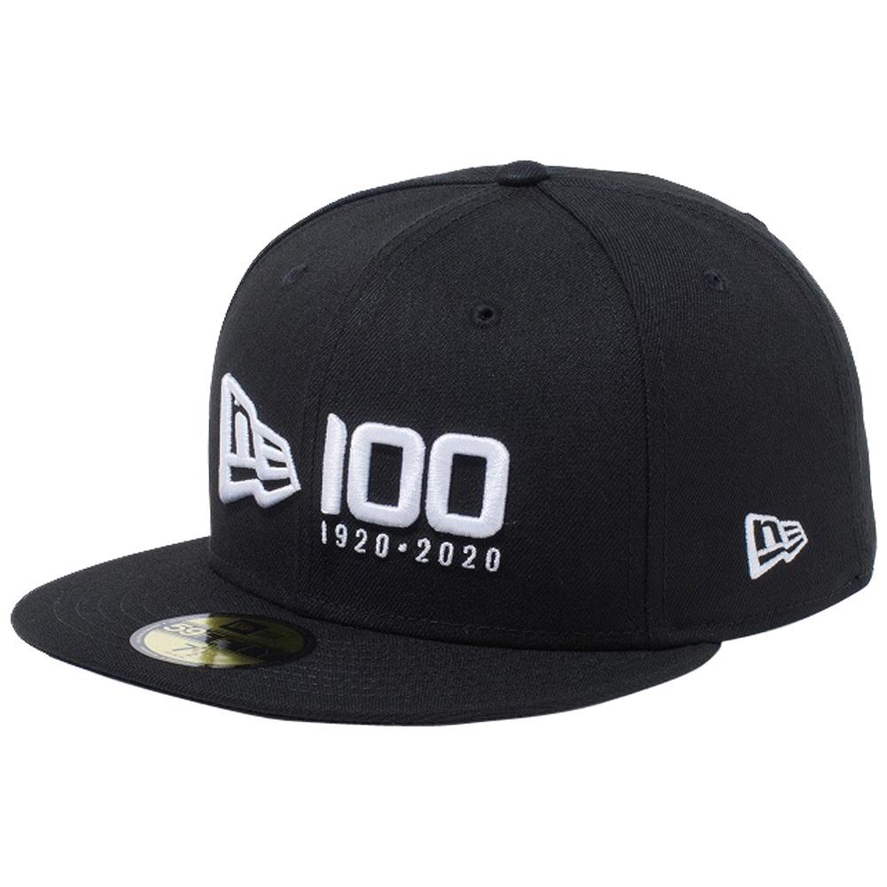 ニューエラ 5950 キャップ ホワイトロゴ ニューエラ 100th  アニバーサリー ロゴ ブラック ホワイト