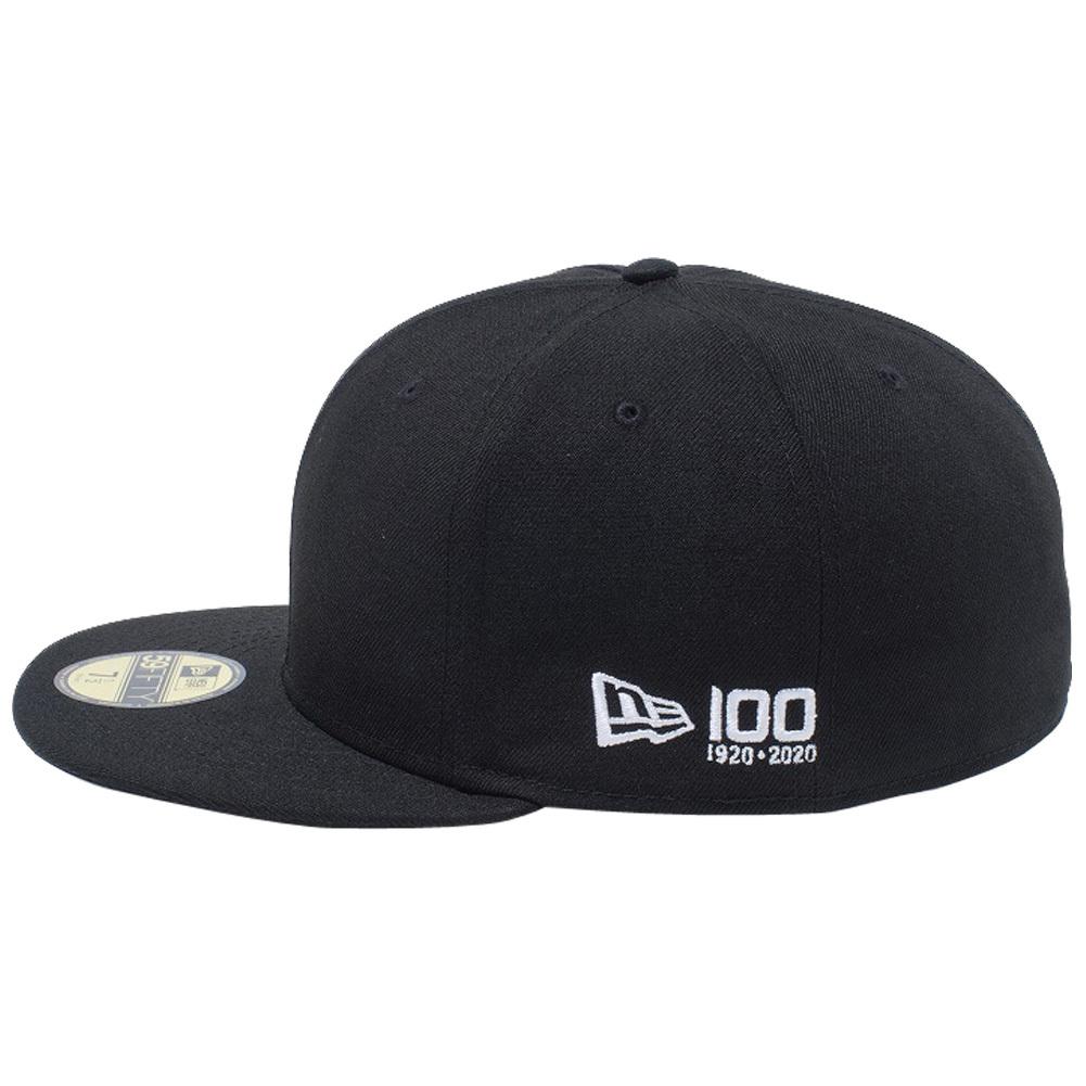 ニューエラ 5950 キャップ ホワイトロゴ ニューエラ 100th  アニバーサリー フラッグロゴ ブラック