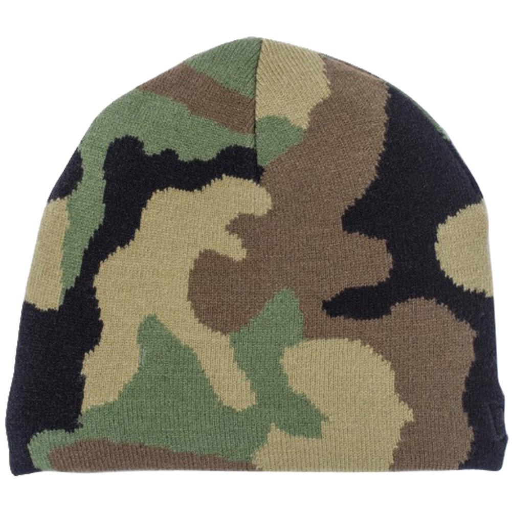 ニューエラ キッズニットキャップ ベーシックビーニー ウッドランドカモ ブラック New Era Kids Knit Cap Basic Beanie Woodland Camo Black