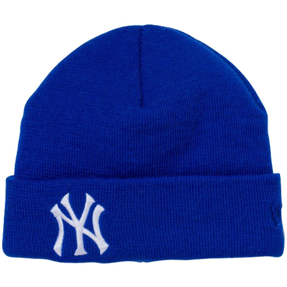 ニューエラ キッズニットキャップ ベーシックカフニット チームロゴ ニューヨーク ヤンキース ロイヤル スノーホワイト ロイヤル New Era Kids Knit Cap Basic Cuff Knit Team Logo New York Yankees Royal Snow White Royal