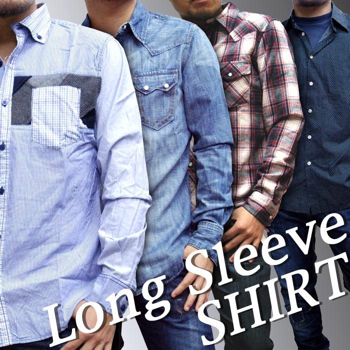 長袖ボタンシャツ