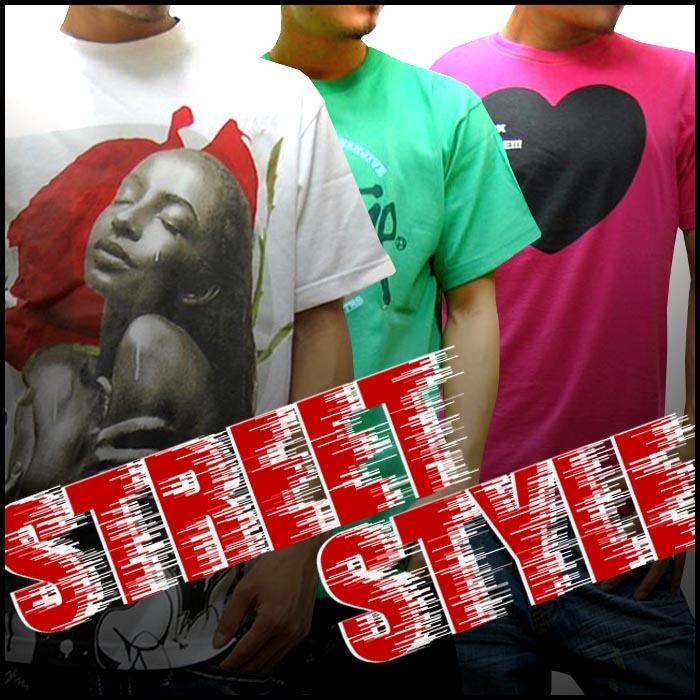 ストリートスタイルTシャツ