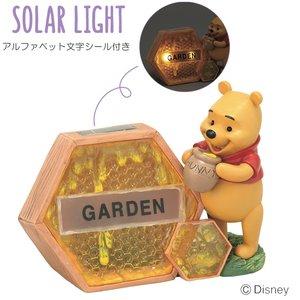 専門ショップ ソーラーライト 屋外 照明 ガーデンライト LED ディズニー 光センサー付き ソーラーネームライト(プーさん) アルファベット文字シール付き, ドレス販売ロイヤルチーパー dfe7a75b