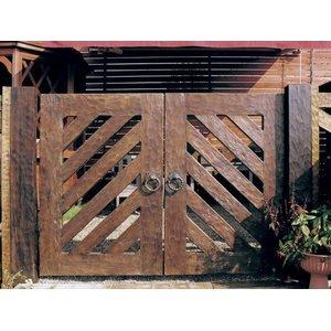 【内祝い】 ウッド門扉 ストライプ2型0812柱仕様 両開きセット ウッド門扉 木のぬくもりを残したウッド門扉。, キョウゴクチョウ:0022ba80 --- e-arabic.com