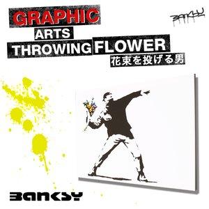 最高の品質の Banksy Throwing バンクシー アート Throwing Flower 花束を投げる男 Art グラフィティアート Banksy Flower 「芸術テロリスト」とも呼ばれるバンクシー(Banksy)のGraffiti ART, GoodBaby(グッドベビー):19134b01 --- mashyaneh.org
