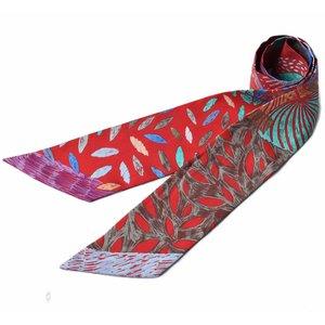 【ご予約品】 エルメス ツイリー スカーフ HERMES シルクツイル バードモチーフ レッド/パープル系, 戸畑区 af157fff