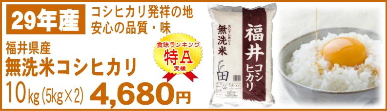 無洗米福井県産コシヒカリ