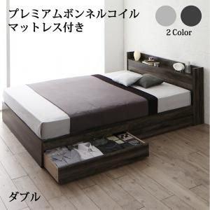 超可爱 棚・コンセント付き収納ベッド JEGA ダブル,U-LIFE ジェガ プレミアムボンネルコイルマットレス付き ダブル HOME ベッド 収納ベッド, ハガチョウ:da74d6fd --- mikrotik.smkn1talaga.sch.id