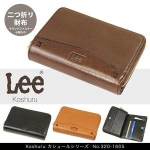 brand new 3b47f f7159 Lee リー Kashuru カシュール 財布 メンズ 二つ折り財布 牛革革 本革 小銭入れあり ラウンドファスナー 320-1605