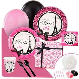 パリ風 ピンク エッフェル塔 パーティーセット お得 パーティーデコレーション パーティーグッズ テーブルセッティング テーブルコーディネート グッズ 通常便は送料無料