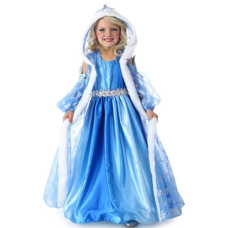 プリンセス 雪の女王 お姫様 アナと雪の女王 エルサ風 ブルー ロングドレス 子供用 女.