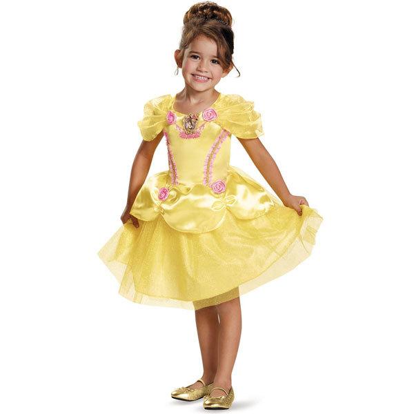 13befdd3414cd ディズニー プリンセス 美女と野獣 ベル ドレス 子供用 女の子用 黄色 ハロウィン コ.