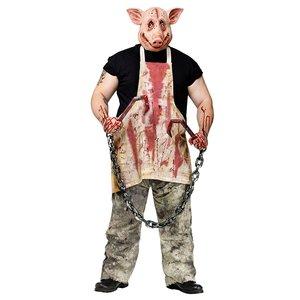 魅力的な ハロウィン 豚のとぎ師 通常便なら マスクとエプロンコスチュームセット大人用 通常便なら 送料無料 通常便は送料無料 豚のとぎ師 ホラー 豚 ハロウィン アニマル, カジュアル雑貨ビューピー:4da40b14 --- rise-of-the-knights.de