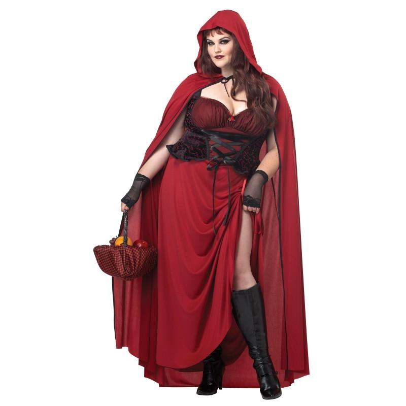 ハロウィン コスプレ コスチューム 衣装 赤ずきんちゃん マント付ドレス ロング丈 大人用 レディース 大きいサイズ セクシー 通常便なら 送料無料