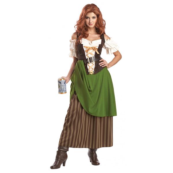 中世/ヨーロッパ 中世 酒場の娘 コスプレ 衣装 ハロウィン 大人用コスチューム 通常便なら 送料無料