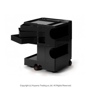 [宅送] ボビーワゴン2段3トレー[ブラック]【正規品】【2年保証 LINE)・シリアルナンバー付き】BOBY WAGON(2段3トレイ) B-LINE(ビーライン B B LINE) 送料無料 おしゃれなイタリア製の多機能収納ワゴン、ボビーワゴン。 2段3トレー(ブラック)(2段3トレイ), TNS:f818c4c1 --- agenklg.co.id
