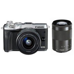 【GINGER掲載商品】 CANON デジタル一眼カメラ EOS M6 M6 CANON ダブルズームキット [シルバー] [タイプ:ミラーレス EOS 画素数:2580万画素(総画素)/2420万画素(有効画素) 撮像素子:APS-C/22.3mm×14.9mm/CMOS 重量:343g] デュアルピクセル CMOS AF搭載のミラーレスカメラ(ダブルズームキット), キングオブキャット:a2b3953c --- rr-facilitymanagement.de