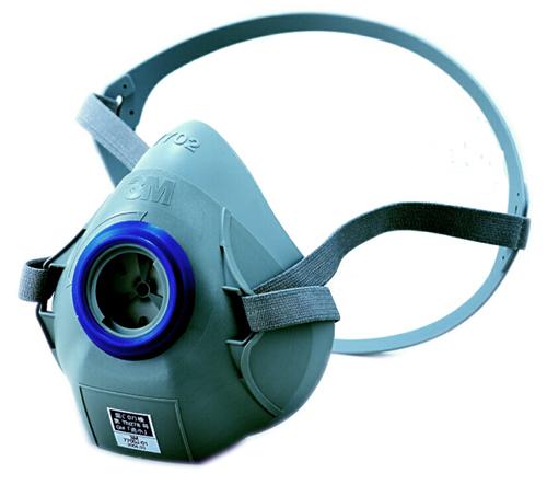 【3M/スリーエム】 防毒マスク 7700J (半面形面体) 【ガスマスク・作業用】