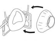 【興研】 防塵マスク用交換接顔メリヤス2重片縫 (5枚入) 【粉塵・作業用・医療用】
