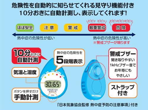 暑さ対策商品 携帯型熱中症計 見守りっち
