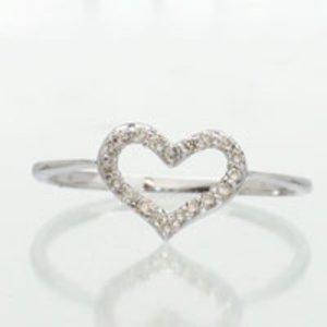 【送料無料】ピンキーリング ハート:ダイヤモンドリング ダイヤ 0.10ct ダイヤ オープンハートに天然ダイヤモンドを20石セッティング:ee33bc8e --- parker.com.vn
