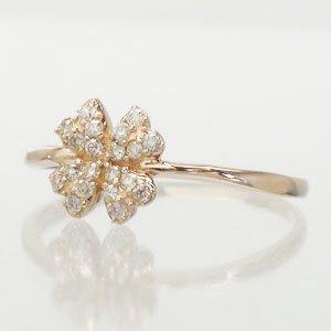 新版 ピンキーリング クローバーダイヤモンドリング ダイヤ ダイヤ 0.15ct【送料無料】 幸福の象徴『四葉のクローバー』をシンプルリング, TODAYS STORE:a0c8f762 --- eva-dent.ru