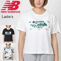 379a82dc91006 Tシャツ 半袖 レディース ニューバランス Newbalance エッセンシャル アクアカモ ボクシーTシャツ スポーツ.