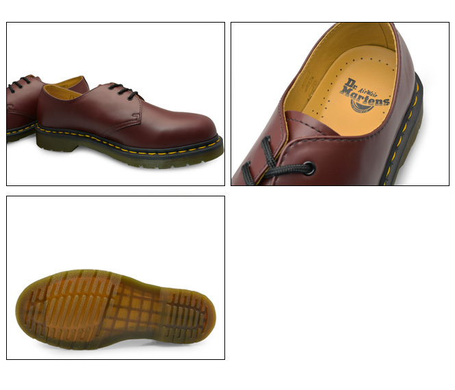 11838600 Dr Martens Smooth 1461 Cherry Red Rouge