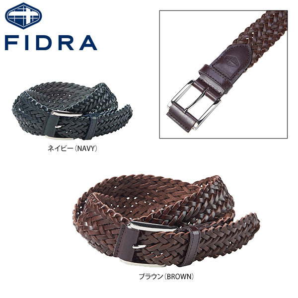 FB141093 ゴルフ FIDRA レザーメッシュベルト (メンズ) フィドラ