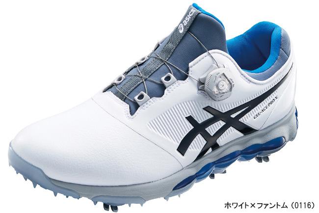 アシックス メンズ GEL-ACE PRO X Boa(ゲルエース プロ エックス ボア)ゴルフシューズ ホワイト×ファントム(0116)