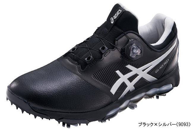 アシックス メンズ GEL-ACE PRO X Boa(ゲルエース プロ エックス ボア)ゴルフシューズ ブラック×シルバー(9093)