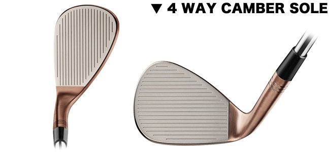 TAYLORMADE GOLF MILLED GRIND HI-TOE 4WAY CAMBER VIEW
