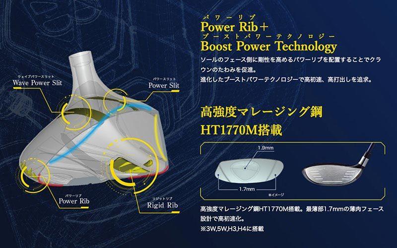 Power Rib+Boost Power Technology(パワーリブ+ブーストパワーテクノロジー)