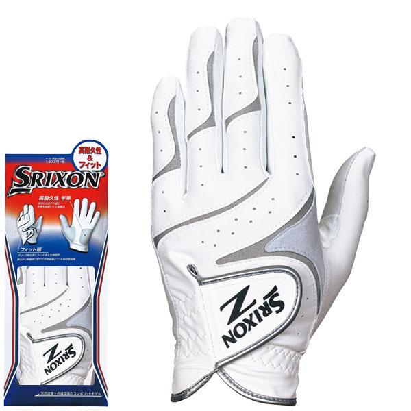 ダンロップ SRIXON スリクソン メンズ 高耐久性&フィット ゴルフグローブ GGG-S016 ホワイト/シルバー