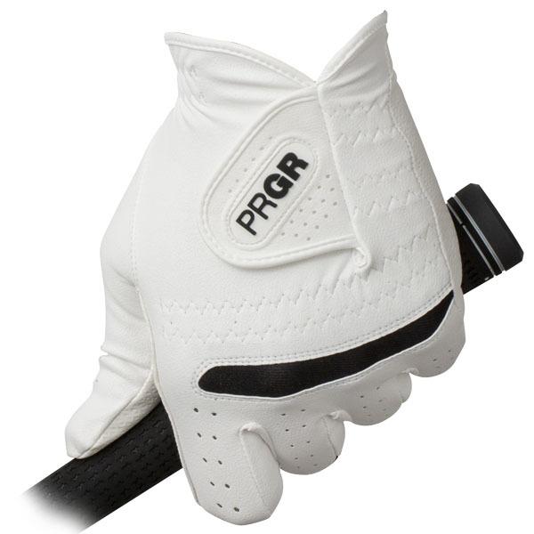 [2019年モデル] PRGR プロギア メンズ 全天候型 ゴルフグローブ PG-219 WB ホワイト×ブラック