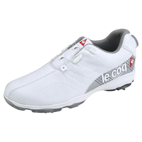 [2019年モデル] ルコック メンズ ソフトスパイク ゴルフシューズ QQ2NJA01 WH00 ホワイト