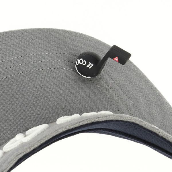 Le coq sportif GOLF 音符マーカー付き 立体ロゴ刺繍 サンバイザー view2