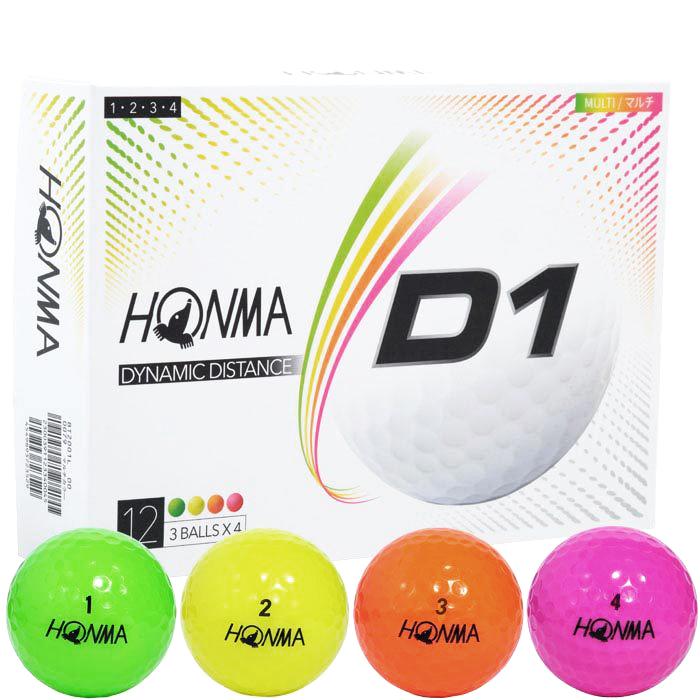 HONMA GOLF NEW D1 BALL MULTICOLOR