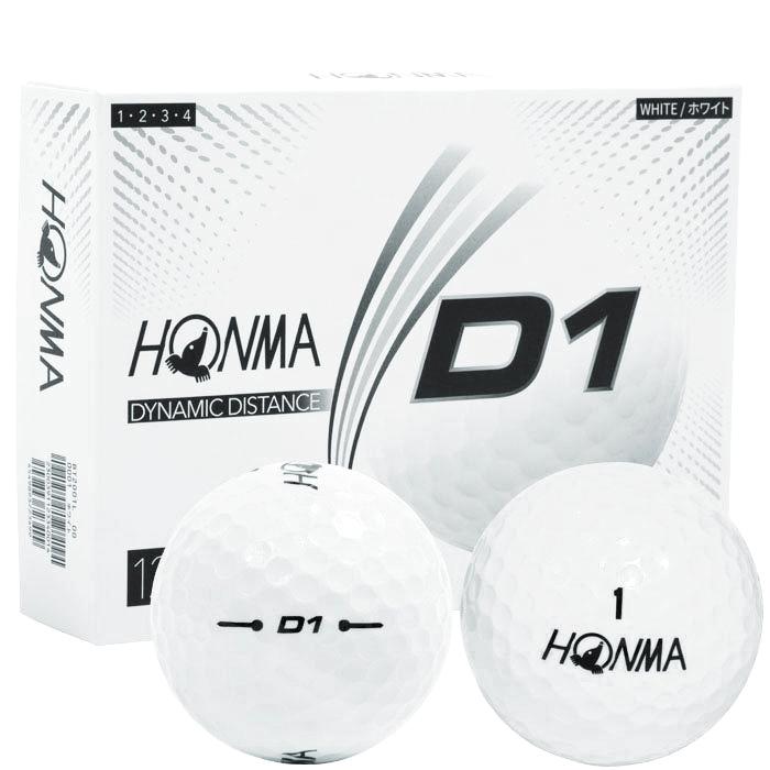 HONMA GOLF NEW D1 BALL WHITE