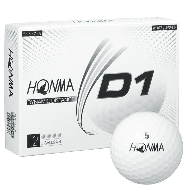 HONMA GOLF NEW D1 BALL HIGHT NUMBER WHITE