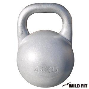 注目の [WILD FIT ワイルドフィット] JKA公認ケトルベル 44kg シルバー【ウエイト トレーニング ダンベル 筋トレ 握力 腕力】, キンカイチョウ 8cb0cff8