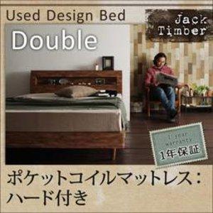 『1年保証』 棚・コンセント付きユーズドデザインすのこベッド【Jack Timber】ジャック・ティンバー【ポケットコイルマットレス:ハード付き】ダブル ユーズドライクに暮らす 【Jack timber】, エコラボリーショップ:98c523a8 --- cranbourne-chrome.com