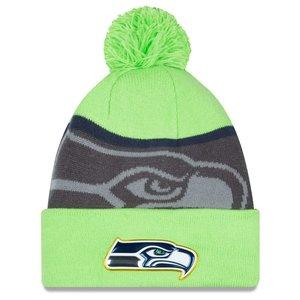 """特別セーフ ニューエラ メンズ ニット帽 """"Seattle Seahawks"""" New Era NFL Gold Collection Team Color Knit Hat 帽子 Neon Green/Graphite, タカオカチョウ 9515e88b"""