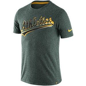 【人気急上昇】 ナイキ メンズ MLB Marled Oakland Athletics Nike Heathered Marled Wordmark メンズ T-Shirt Tシャツ 半袖 Heathered Green【買い付けNOW】3/12より注文順に発送開始予定 送料無料, 加茂市:9426e659 --- frmksale.biz