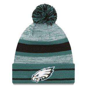 """完璧 ニューエラ メンズ Pom ニット帽 """"Philadelphia Eagles"""" New Era NFL Midnight Team Eagles"""